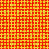 Red yellow checked  plaid  seamless  background. Royalty Free Stock Photos