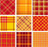 Bright plaid patterns. A vector illustration