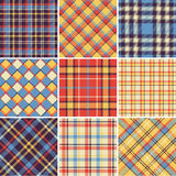 Bright plaid patterns Stock Images