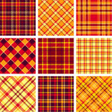 Bright plaid patterns Royalty Free Stock Photos