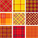 Bright plaid patterns set Stock Images