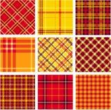 Bright plaid patterns set Stock Images