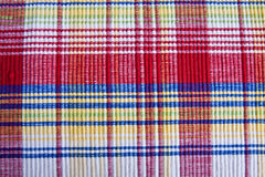 Bright Plaid Placemat Royalty Free Stock Photography