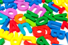 Bright Plastic Alphabet Letters Royalty Free Stock Photos