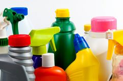 Bright Plastic Bottles Royalty Free Stock Photos