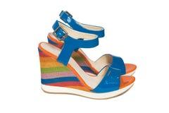 Bright platform sandals Stock Photos