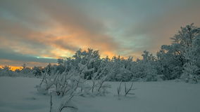 Bright polar sunset Stock Photography