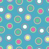 Bright Polka Dots. Illustration of bright polka dots on blue background Stock Photo