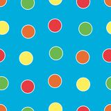 Bright Polka Dots. Polka Dots background pattern in bright colors Royalty Free Stock Images