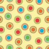 Bright Polka Dots Background. Polka Dots background pattern in bright colors Royalty Free Stock Photography
