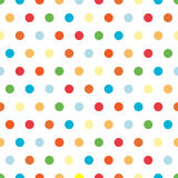 Bright Polka Dots Background. Polka Dots background pattern in bright colors Royalty Free Stock Photos