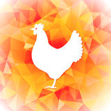 Bright polygon illustration of a hen. Happy Chinese New Year cards. Perfect for decoration designs festive banners Royalty Free Stock Photo