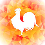 Bright polygon illustration of a rooster. Happy Chinese New Year cards. Perfect for decoration designs festive banners Royalty Free Stock Photo
