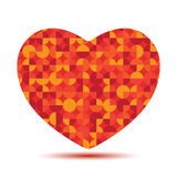 Bright polygonal red heart Stock Images