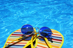Bright Pool View Royalty Free Stock Photography