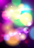 Bright pop-art bokeh background. Royalty Free Stock Image