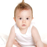 Bright portrait of adorable baby Stock Photos