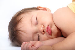 Bright portrait of adorable sleeping baby Royalty Free Stock Photo
