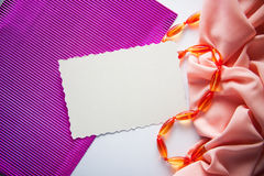 Bright positive abstract background. With orange drapery Royalty Free Stock Image