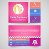 Bright pretty business card (set template) Royalty Free Stock Images