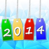 Bright  price-lists with the symbols of coming year. On a beautiful background, illustration Stock Images