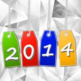 Bright  price-lists with the symbols of coming year. On a beautiful background, illustration Royalty Free Stock Images