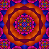 Bright primary colors mandala Stock Photography