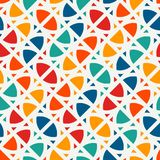 Bright print with geometric shapes. Contemporary abstract background with repeated figures. Colorful seamless pattern. Bright modern print with geometric shapes Royalty Free Illustration