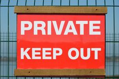 Bright Private keep out sign Stock Photos