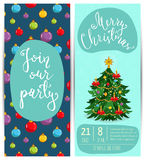 Bright Promotion Flyer for Club Christmas Party Royalty Free Stock Images