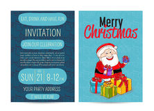 Bright Promotion Flyer for Club Christmas Party Royalty Free Stock Image
