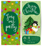 Bright Promotion Flyer for Club Christmas Party Royalty Free Stock Photography