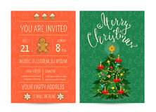Bright Promotion Flyer for Club Christmas Party Stock Photo