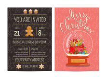 Bright Promotion Flyer for Club Christmas Party Stock Photography