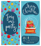Bright Promotion Flyer for Club Christmas Party Royalty Free Stock Photo