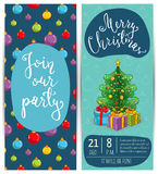 Bright Promotion Flyer for Club Christmas Party Stock Images