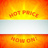 Bright promotional banner Royalty Free Stock Image