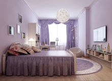 Bright provence room idea Royalty Free Stock Image