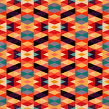 Bright psychedelic geometric background vector illustration grunge effect Royalty Free Stock Photos