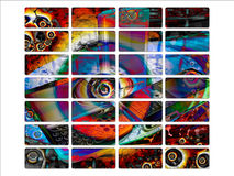 Bright Psychedelic Mobile Phone Backed Buttons Royalty Free Stock Photography