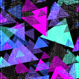 Bright psychedelic polygons on a black background. vector illustration Stock Images