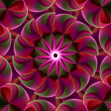 Bright and puffy kaleidoscope. Abstract fractal image resembling a bright and puffy whirligig kaleidoscope Royalty Free Stock Photography