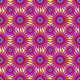 Bright purple abstract stars on a light background seamless pattern vector illustration Stock Photography
