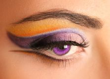 Bright Purple Eye Stock Image