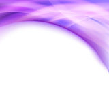 Bright purple line glow swoosh border folder Stock Photo
