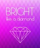 Bright purple rhombus background Royalty Free Stock Photo