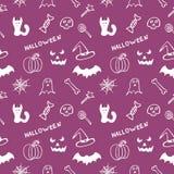 Bright purple seamless texture Halloween Stock Image