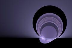 Bright purple swirl. Bright purple light swirl against black background Stock Illustration