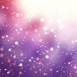 Bright purple winter blur the background. Royalty Free Stock Photography