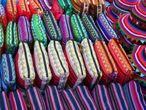 Bright purses for sale Stock Photography